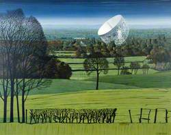 Jodrell Bank from around Pex Hill, Cheshire