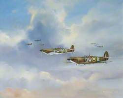 610 Squadron (City of Chester) Spitfires in 1940