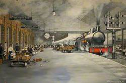 Crewe Station Number 1 Platform, 1911