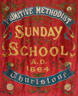 Banner from the Thurlstone Primitive Methodist Sunday School