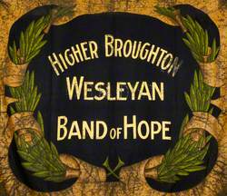 Banner from the Higher Broughton Wesleyan Band of Hope