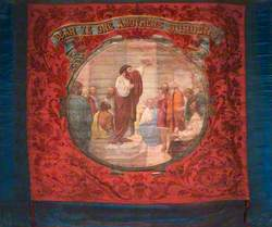Banner from Oddfellows, Loyal Jackson Lodge, Higham