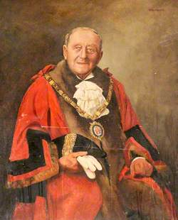 Councillor J. W. Flather, JP, Charter Mayor of the Borough of Ellesmere Port (1955–1956)