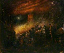 The Great Fire of Nantwich, Cheshire, 1583