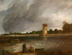 Tabley Lake and Tower, the Seat of Sir John Leicester, Bt