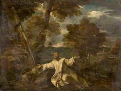Saint Bruno in a Landscape