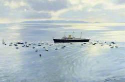 Royal Yacht 'Britannia' off St Martin's Point