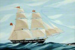 The Brig 'British Queen', Foundered on Rocks, Built 1839