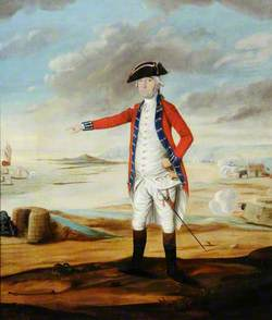 Moses Corbet (1728–1814) with Stockades and a Cannon
