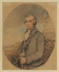 Reverend Stevens in an Oval, against a Landscape