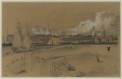 View of Calais from the Harbour