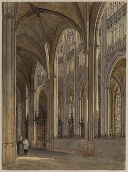 Interior of the Church of Saint Ouen, Rouen