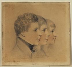 Portrait Heads of Three Boys