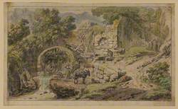 Landscape with Figures by a Bridge and Stream