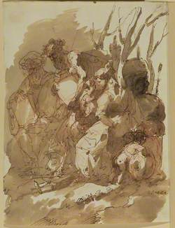 Group of Figures with Bacchus