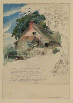 Thatched Cottage Surrounded by Trees
