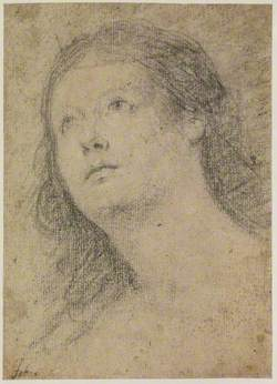 Head of a Woman Gazing Up