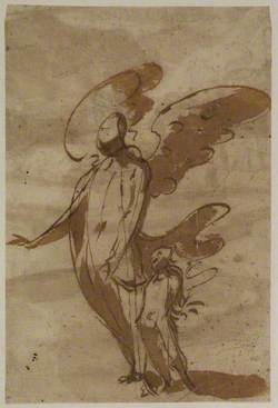 Guardian Angel Walking with a Child
