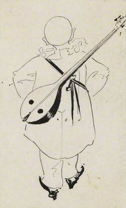 Pierrot with Mandolin