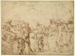 Christ before Pilate (or Saint Lawrence before the Emperor)