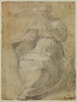 Woman Holding a Distaff