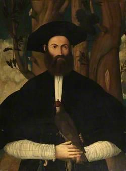 Bearded Man with a Falcon