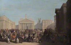 The Bank of England, Royal Exchange and Mansion House