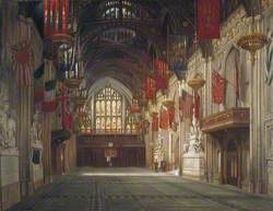 Interior of the Great Hall, Guildhall, London