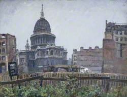 St Paul's Cathedral from St Mary le Bow, London