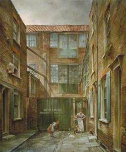 Newnham's Place, Bishopsgate, London, with Moore and Moore's Piano Factory