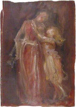 Young Girl Embracing a Woman