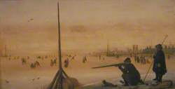Winter Landscape with a Duck Hunter