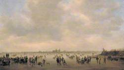 Winter Landscape with Skaters before 's-Hertogenbosch, The Netherlands