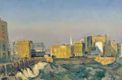 Bombsites around Spitalfields, London