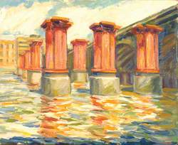 Blackfriars Bridge, London, Red Pillars