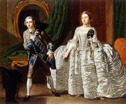 David Garrick (1717–1779), and Hannah Pritchard (1711–1768), in a Scene from 'The Suspicious Husband'