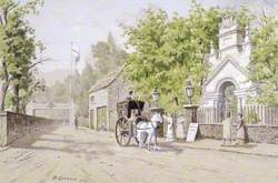 The Waterside Entrance to Cremorne Gardens, London
