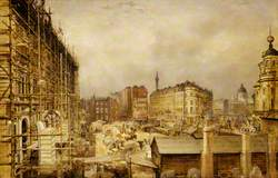 The Construction of the Charing Cross Station Hotel, London