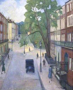 A Corner of Russell Square, Russell Square from Montague Street, London