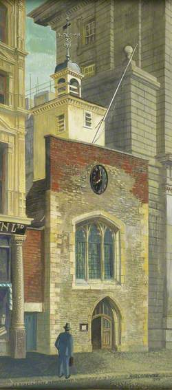 Facade of the Church of St Ethelburga, Bishopsgate, London