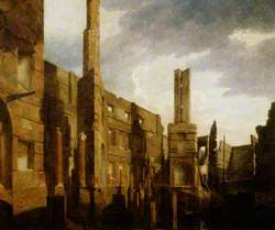 The Ruins of the Pantheon in Oxford Street, London, after the Disastrous Fire of 14 January 1792