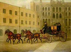 The Dress Chariot of Sheriff of the City of London in the Courtyard of the Guildhall, London