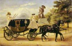 The Dress Carriage of Viscount Eversley in Hyde Park, London