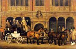 James Selby's Brighton Coach Outside the 'New White Horse Cellar', Piccadilly, London