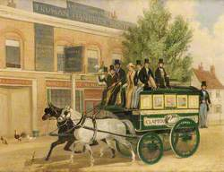 An Omnibus Passing the 'Three Compasses Inn', Clapton, London