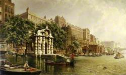 York Watergate and the Adelphi from the River, London