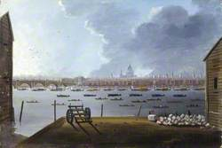 The Funeral Procession of Lord Nelson, on the Thames, London