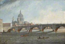 Blackfriars Bridge and St Paul's from the Bridge
