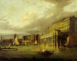 Somerset House and the Adelphi from the River, London