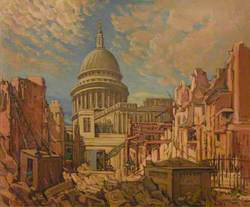 St Paul's Cathedral from Watling Street